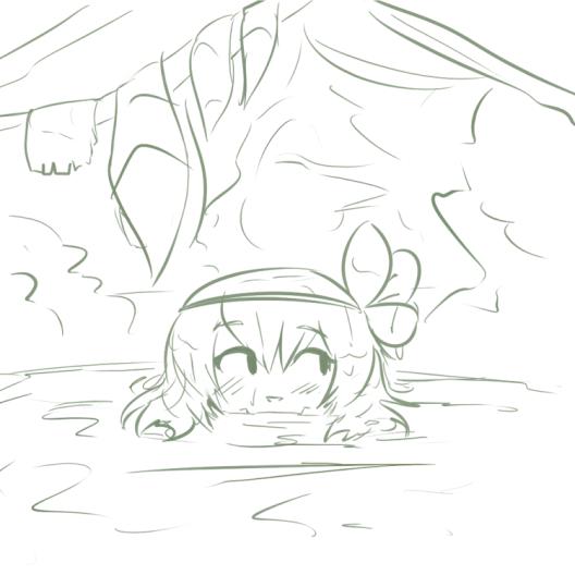 amalia skinny dipping